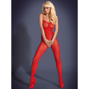 Bodystocking F202 czerwone XL/XXL